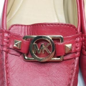 MICHAEL Michael Kors Shoes - MICHAEL KORS ▪︎ Red Leather Loafers w/ MK logo